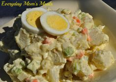 ~Amish Potato Salad~ One of the best potato salads I've ever made, this creamy and delicious side dish is perfect for any barbecue, party or pot luck. The secret is in the sauce!!