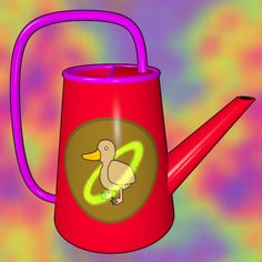 Ring And Duck Watering Can