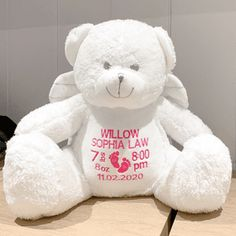 Personalised Super Soft Cuddly Dragon Embroidered Teddy EasterBirthdayNew babyChristening Gifts Custom Bears Embroidered with text
