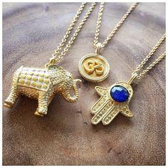 Symbolic Staples #SneakPeekSaturday #FallPreview #Elephant #Strength #Om #SelfWithin #HandOfFatima #Protection #Lapis #Wisdom #Jewelry #AnnaBeck