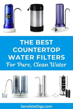 Countertop water filters are cheap, easy to use, and pretty effective. Our guide explains it all, plus shows you the 10 top rated countertop water filters on the market today. Alkaline Water Machine, Alkaline Water Filter, Osmosis Water Filter, Water Filters, Whole House Water Filter, Best Water Filter, Water Filtration System, Water Systems, Alkaline Water Ionizer