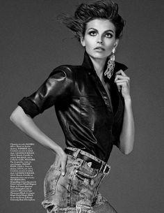 Vogue Paris Editorial September 2013 - Karlina Caune by Giampaolo Sgura