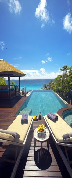 Just add umbrella drinks - Fregate Island, Seychelles