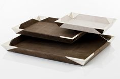QUECHUA SUEDE TRAYS · suede and alpaca metal · AIREDELSUR by Marcelo Lucini