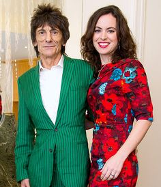 Ronnie Wood and Sally Humphreys. The twice-wed Rolling Stones rocker got engaged to Humphreys, 31 years his junior.