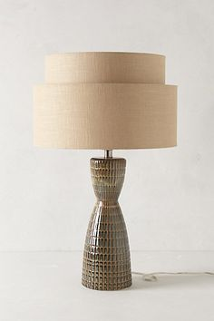 Two-Tiered Lamp Ensemble #anthropologie....reminds me of my grandparent's homes...love 40's and 50's style!