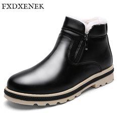 FXDXENEK Fashion 2017 Winter Men Snow Boots High Quality Zipper Pu Leather shoes Plush Warm Men's Winter Boots Male Footwear #Men's footwear http://www.ku-ki-shop.com/shop/mens-footwear/fxdxenek-fashion-2017-winter-men-snow-boots-high-quality-zipper-pu-leather-shoes-plush-warm-men-s-winter-boots-male-footwear/