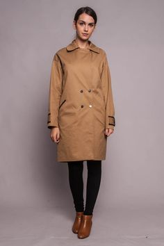 CASSAVETES TRENCH GOLDEN CAMEL