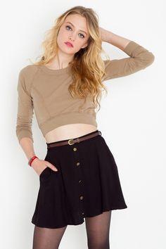 Adorable belted skirt $38
