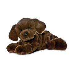 "8"" Aurora Plush Chocolate Labrador Retriever Puppy Dog Mini Stuffed Animal Toy 