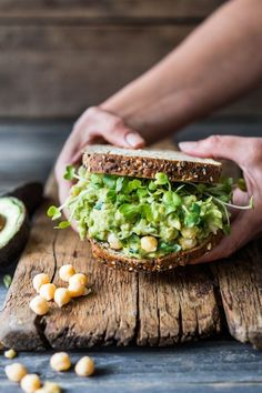 This Smashed Chickpea Avocado Sandwich is the BEST! This Smashed Chickpea Avocado Sandwich is the BEST! Healthy ( vegan) and satisfying it is sooooo YUMMY and can be made in minutes! So EASY! Lunch Recipes, Yummy Recipes, Whole Food Recipes, Vegetarian Recipes, Cooking Recipes, Healthy Recipes, Cooking Tips, Tofu Recipes, Vegemite Recipes