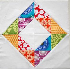 http://quilterscache.com/F/FriendshipScrapBlock.html for free pattern for this block. #quilts #hst