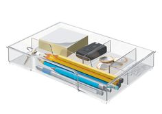 Leitz Organiser Tray for Plus and Wow Drawer Cabinets - Transparent: Amazon.co.uk: Office Products