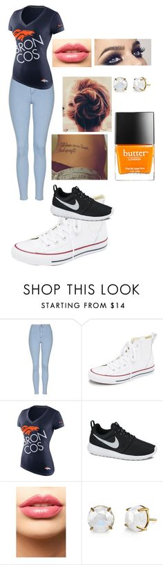"""""""Super Bowl 2016"""" by photogrpahyphreak on Polyvore featuring Topshop, Converse, NIKE, LASplash, Butter London, women's clothing, women, female, woman and misses"""
