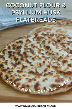 A coconut flour flatbread that is so versatile. You can use this for sandwich wraps tortillas or even a quick pizza. It's low carb paleo gluten free egg free dairy free and vegan so is suitable for most diets. Low Carb Dinner Recipes, Keto Recipes, Cookie Recipes, Dessert Recipes, Bread Recipes, Quiche Recipes, Protein Recipes, Cheese Recipes, Pumpkin Recipes
