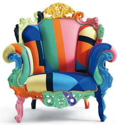 The colourful Proust Geometrica Mendini Armchair was designed by Alessandro Mendini for the Italian manufacturer Cappellini.The story of Cappellini began back i