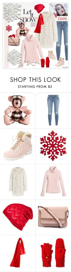 """All you need is love"" by mcheffer ❤ liked on Polyvore featuring Burberry, Frame Denim, Australia Luxe Collective, Yves Salomon, White House Black Market, Marni, Merona and WallPops"