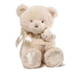 Gund Baby Momma & Bear Rattle Plush Cream 15