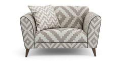 Verve Pattern Cuddler Sofa  Verve | DFS