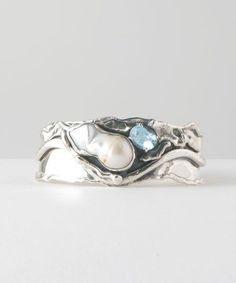 Baroque Pearl with Faceted Gem [cpr15] : Marksz Co. | Sterling · West Palm Beach , Handcrafted Artisan Sterling Silver Jewelry