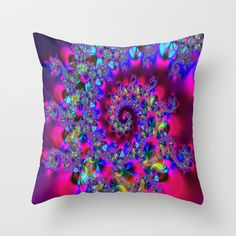 Candy Swirl Throw Pillow by Ian Mitchell - $20.00