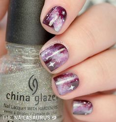 The astonishing, always timeless Galaxy Nails. Can you beat them? I reckon not. (Man, it's been too long since I've pinned fun nail designs!  Gonna start that up again when my wrist is better!)