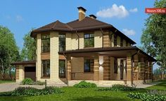Проект дома C-222M - Проекты домов и коттеджей в Москве Gazebo, Outdoor Structures, Cabin, Mansions, House Styles, Home Decor, Mansion Houses, Homemade Home Decor, Kiosk