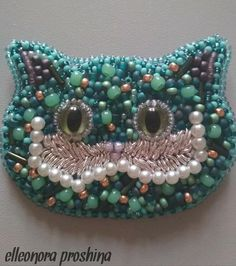 Brooch Cheshire cat.  Movie Disney character cat. Jewelry smile Cheshire cat. Unique gift for her.