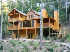 Ellijay Vacation Rental - VRBO 147764 - 4 BR Northwest High Country Cabin in GA, Fall Getaway: Waterfront, Luxury 4/3 Cabin with New Hot Tub