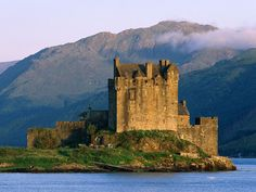 Eilan Donan Castle, on Scotland's west coast.  One of the most photographed views in the world.