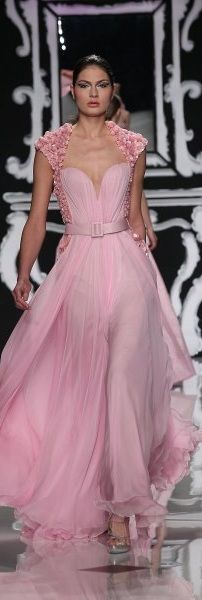 Abed Mahfouz Pretty Prety in Pink!! An Exquisite gown that brings to mind tender, sweet, romance under the stars...K♥