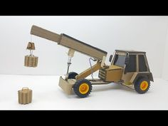 how to make towing truck / electric truck with cardboard - YouTube