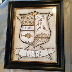 Framed Family Coat of Arms