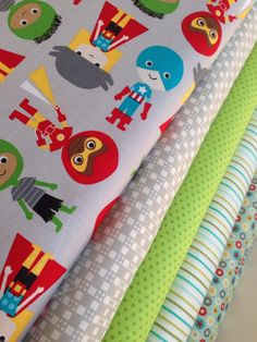 Ann Kelle fabric in Super Kids fabric bundle by Robert Kaufman- Fat Quarter Bundle, 5 total on Etsy, $15.00
