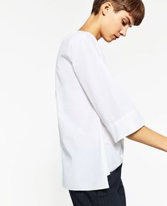 Image 3 of KNOT BOATNECK BLOUSE from Zara
