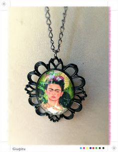 Frida Kahlo necklace, more infos on the new accessories I created on my blog here: http://giugizu.blogspot.it/2013/09/frida-kahlo-accessories.html