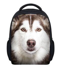 ELVISWORDS New Girls School Bags Lovely Dogs Painting School Bag for Baby Girl Kindergarten Backpack kids Daily Cute Bookbag