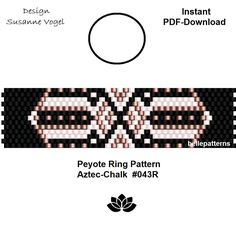 peyote ring pattern,PDF-Download, #043R, beading pattern, beading tutorials, ring pattern,pdf patterns,pdf file,instant download,ring design von bellepatterns auf Etsy