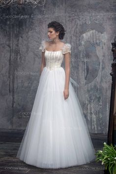 """Wedding Dress from Tulle and Embroidery decor Fairy wedding dress Princess gown Embroidery Dress Ball Gawn Wedding Dress - """"Porrima"""""""