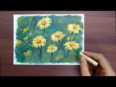 Today we'll learn how to draw wildflowers in oil pastel. This is a step by step detailed art tutorial for beginners. Oil Pastel Paintings, Oil Pastel Art, Sennelier Oil Pastels, Beginner Art, Rose Oil, Pastel Flowers, Detail Art, Painted Paper, Wildflowers