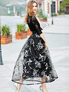 56eff28ed0b1 Black Floral Printed Bow Tied Waist Maxi Dress