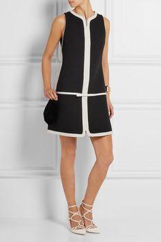 Giambattista Valli | Silk organza-trimmed wool-blend crepe mini dress | NET-A-PORTER.COM