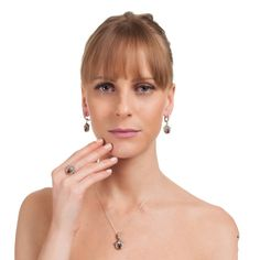 The Zerbap Nayyer Jewelry Set with Zircon Ruby Stones by Rosestyle, $54.60