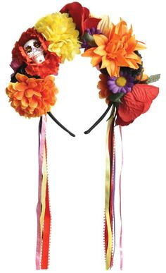 Day of the Dead Floral Headband - Party City