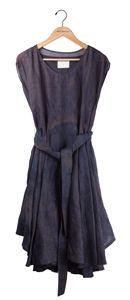 gary graham - ramie dress in dark wall