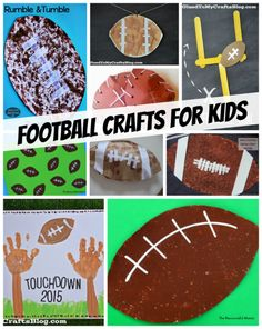 1000 ideas about football crafts kids on pinterest for Football crafts for preschoolers