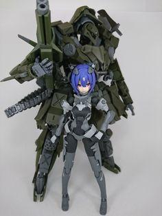 """むらくも on Twitter: """"メガミ用強化外骨格完成しました! エントリーメール送りました ぎりぎりだった  #メガミデバイス #フレームアームズ #駿河屋プラモ道… """" Custom Gundam, Gunpla Custom, Character Concept, Character Design, Frame Arms Girl, Sci Fi Models, Anime Weapons, Robot Girl, Lego Mecha"""