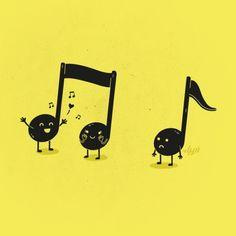 Awww sad eighth note is sad :(