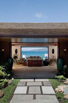 yes! This what I wanted to do at the house in the Philippines. The view of the sea as soon as you come in the front door.