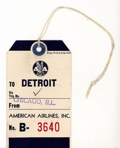 american airlines luggage tag, via sansceriph on Flickr.